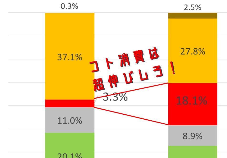 【インバウンド消費金額】コト消費における市場規模の伸びしろをタイと比較して検証してみた。