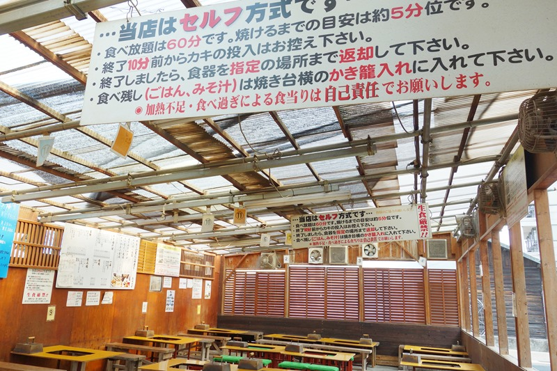 島田水産の飲食スペース